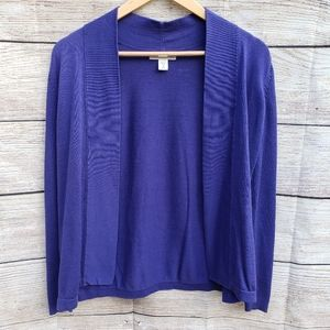 Coldwater Creek Open-Front Cardigan Purple (XS)
